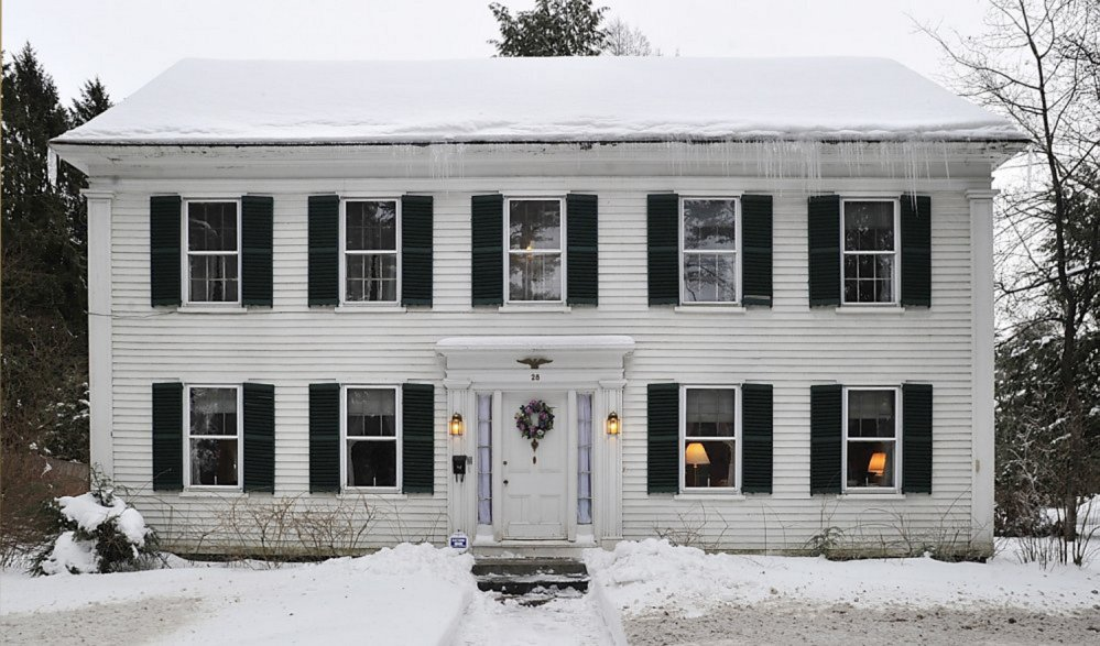 Bowdoin College has purchased this home at at 28 College St. in Brunswick. A judge this year ruled that Arline P. Lay must honor an agreement she signed in 1996 and sell the house to Bowdoin.