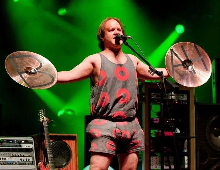 Phish drummer Jon Fishman, shown performing last summer, is running for selectman in Lincolnville.