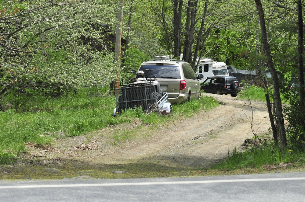 This photo taken on Thursday shows 318 Sturtevant Hill Road in Readfield, where police say a woman shot her husband in the back with a shotgun.