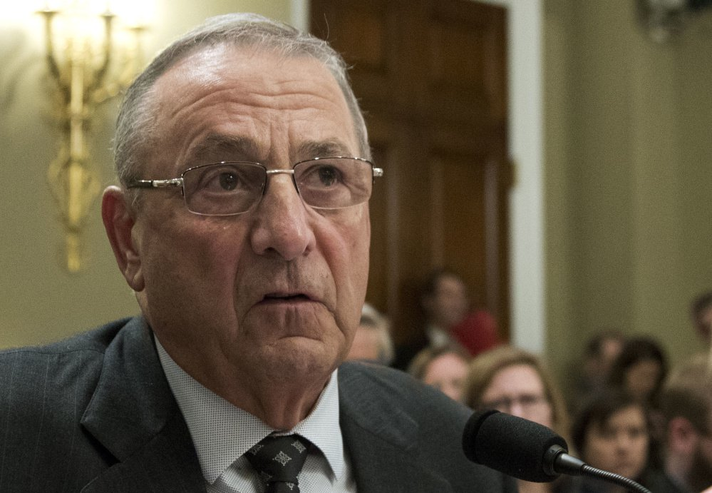 Gov. Paul LePage met with legislative caucus leaders Friday morning to try to break a partisan stalemate over the state budget.