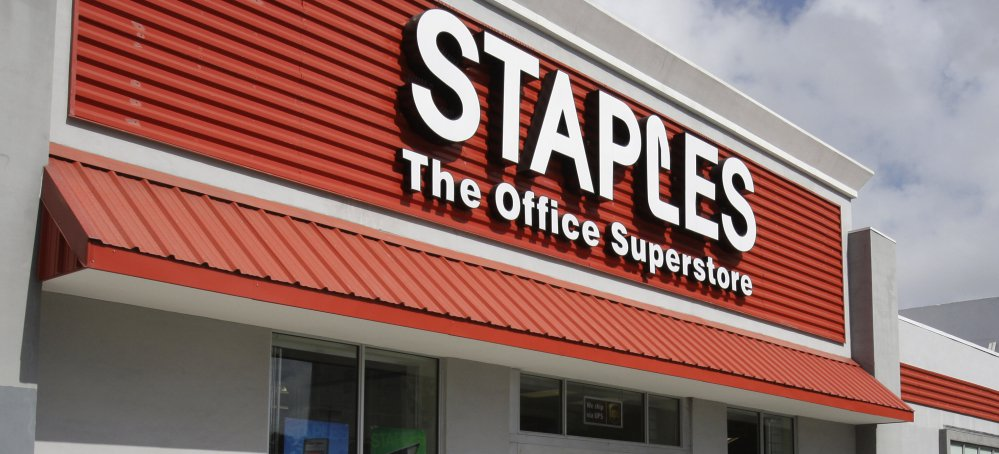 """The digital revolution took a toll on Staples, now based in Framingham, Mass., which had grown quickly and used a tagline """"That was easy."""""""