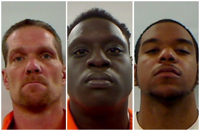 Three men arrested in Augusta motel on drug trafficking charges