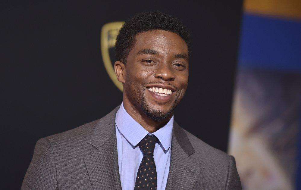 """Chadwick Boseman, who portrays former Supreme Court Justice Thurgood Marshall in the upcoming film """"Marshall,"""" called pro football players """"patriots"""" for taking a knee in protest of President Trump."""