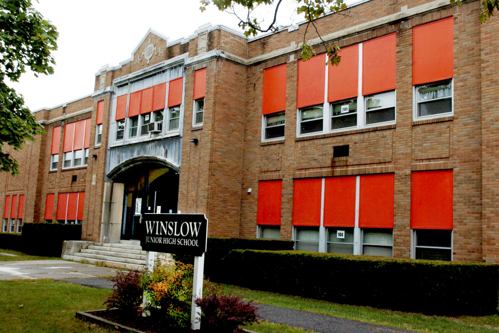 The Winslow Town Council has set tentative dates in October to hold hearings on a proposed $10 million bond to fund a plan to consolidate schools and renovate the elementary and high schools to accommodate an influx of middle school students. Winslow Junior High School would be torn down.