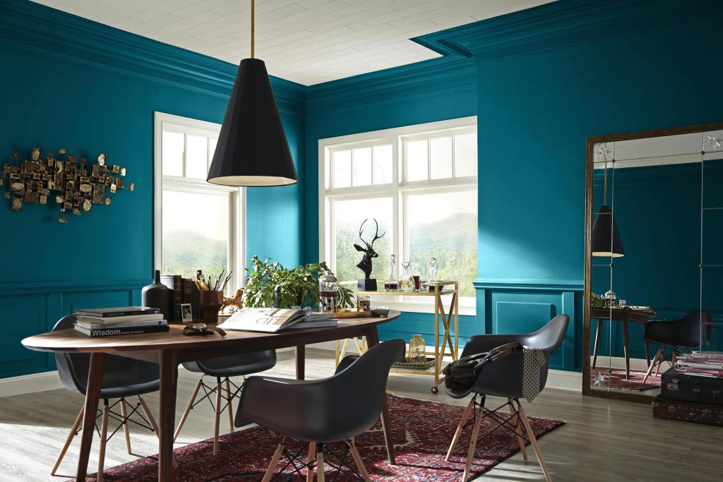 Reinventing a room can be as easy as changing the light fixture.