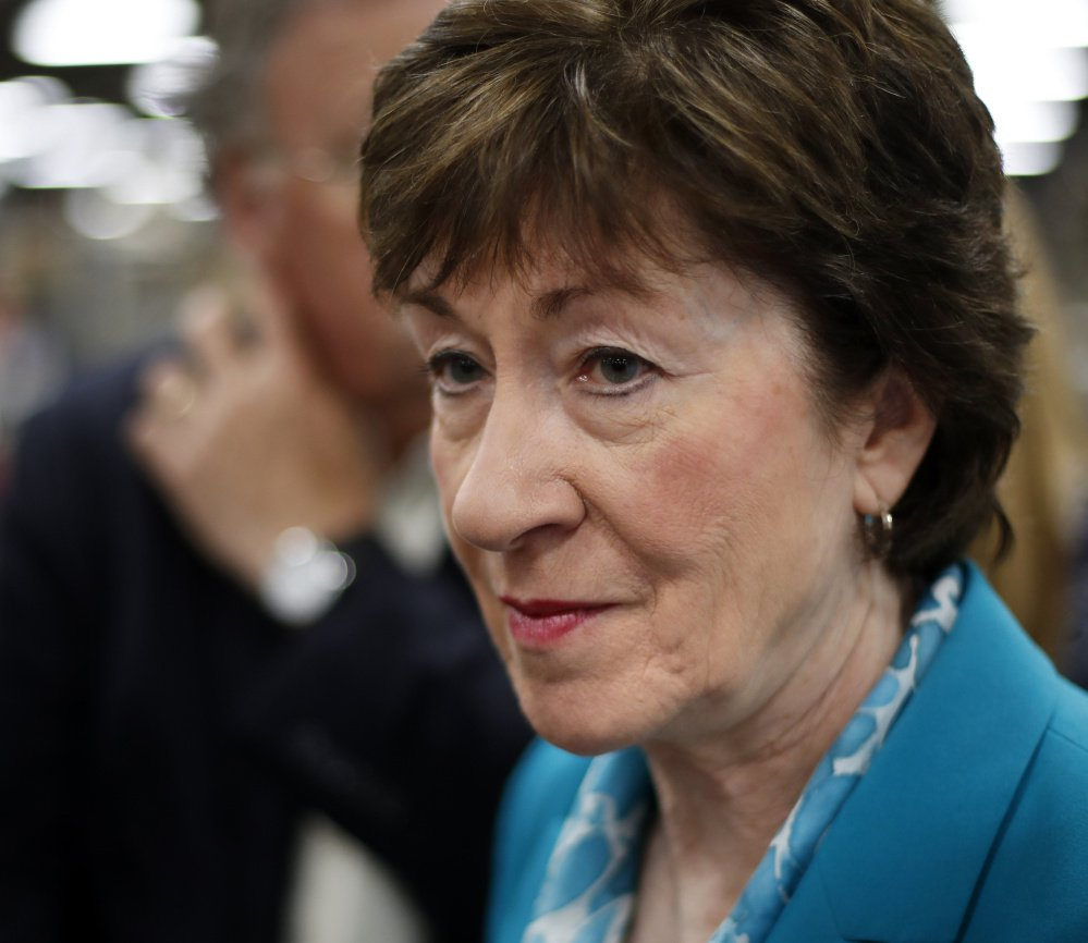 """Sen. Susan Collins criticized a provision in the tax reform bill to repeal the ACA individual mandate, but didn't say she would vote """"no"""" on the plan."""