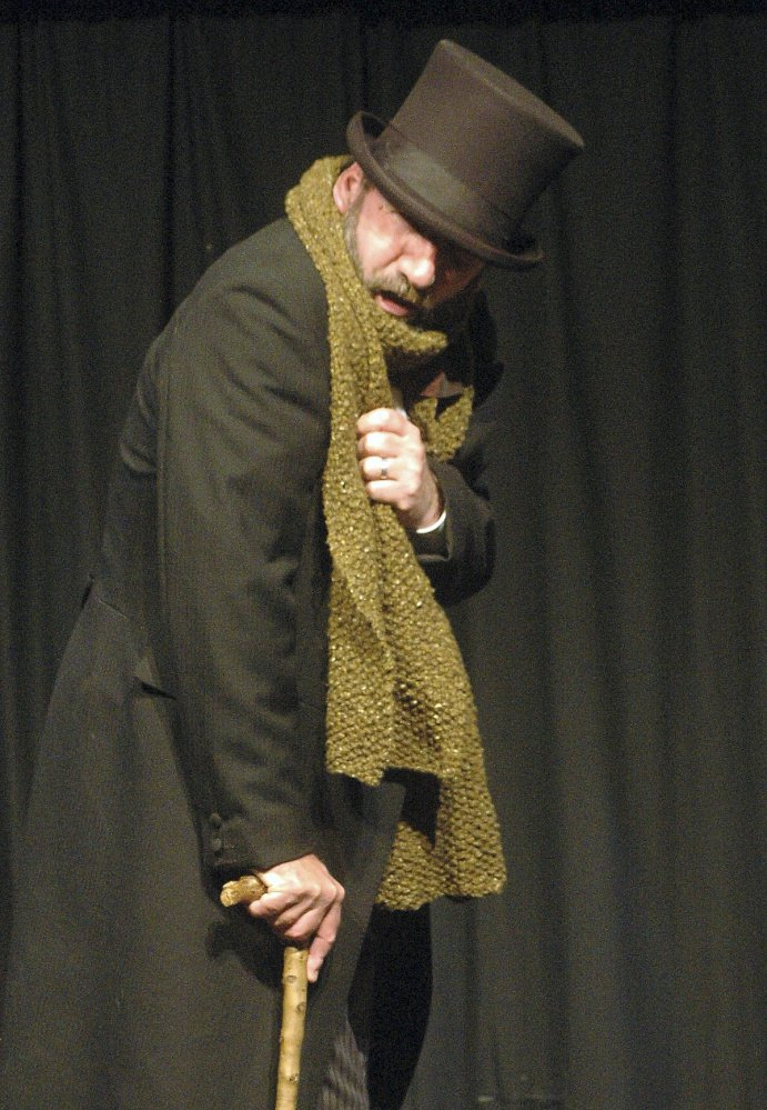 "Gerald Dickens, a great-great grandson of Charles Dickens, will be in Portland on Monday to perform his ancestor's best known work, ""A Christmas Carol."""