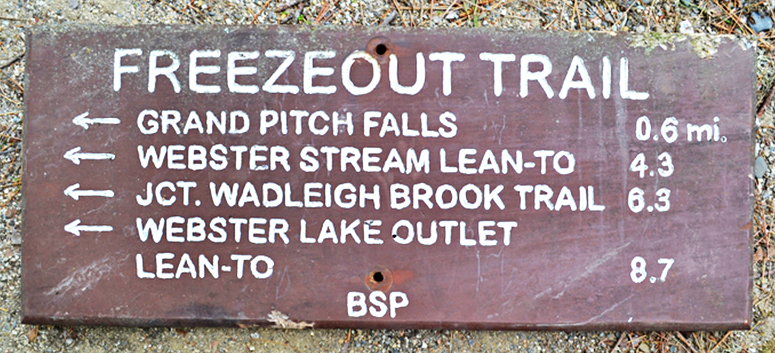 """The auction website points out that this trail sign, measuring 27 by 11 inches, has """"slight animal damage to lower and upper edges."""""""