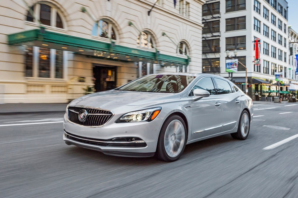 The 2018 Buick LaCrosse is aimed at young professionals seeking a bridge between a mass-market sedan like a Honda Accord and a more expensive luxury brand such as BMW or Mercedes.