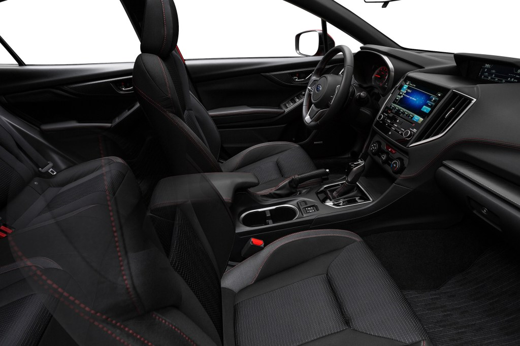 The Impreza is roomy and comfortable. The passenger compartment is larger than any of the vehicle's competitors'.
