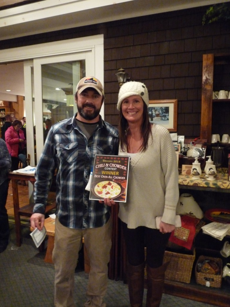 Sarge's Pub & Grub was the Best Overall Chowder winner. From left are Jamie Sargent and Crystal Greenleaf Figoli.