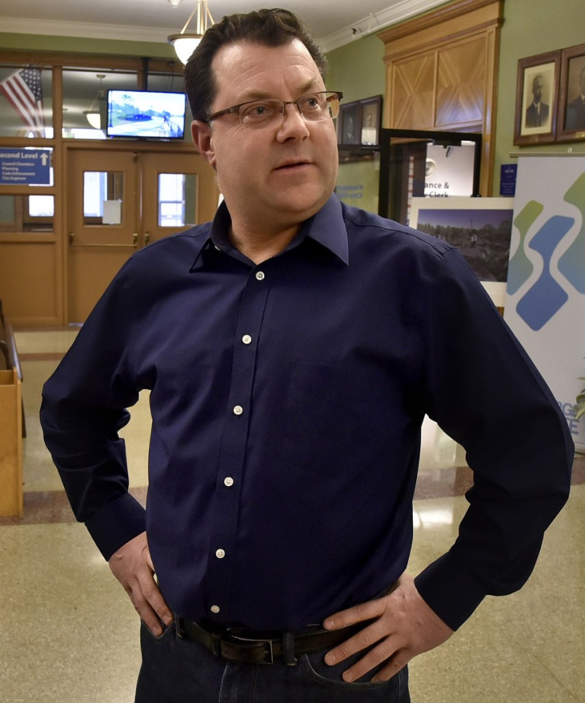 """Waterville School Board member Julian Payne reacted to Mayor Nick Isgro's announcement that he will not be a Republican candidate for governor. """"I'm glad he is not running, we need him here,"""" Payne said, following a press conference at Waterville City Hall on Monday."""
