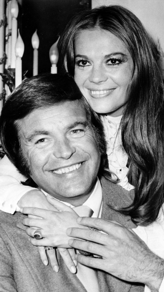 Robert Wagner appears with his former wife, actress Natalie Wood, in 1972.