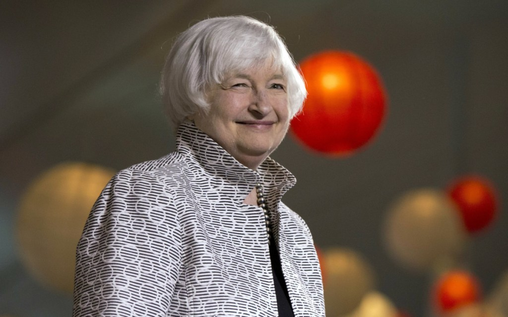 Former Fed Chair Janet Yellen will start a new job Monday at the Brookings Institution.