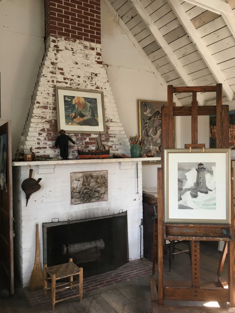 The interior of the Kent-Fitzgerald House on Monhegan.      Photo Robert Stahl, courtesy of the Fitzgerald Legacy.