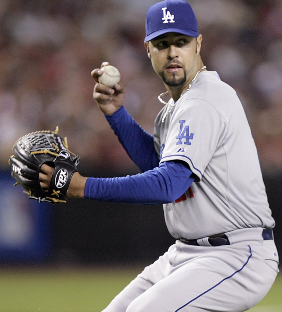 Esteban Loaiza, who pitched for the Dodgers – one of his eight major league stops – was arrested after more than 44 pounds of suspected cocaine were found in his home.