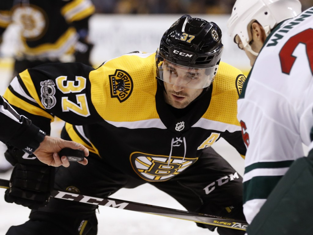 Patrice Bergeron is still as good as ever as a defensive forward, but this season he has become one of the NHL's top goal scorers – with 17 goals in his last 19 games and 27 for the season.