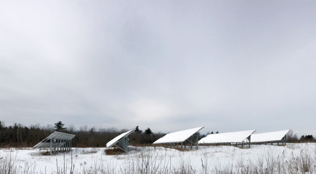 A solar farm on Morrison Heights Road is seen Friday in Wayne.