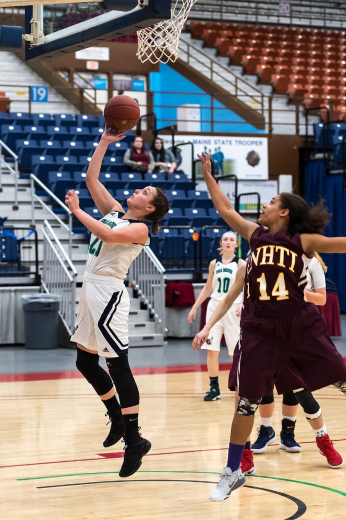 University of Maine at Augusta forward Caitlin LaFountain is averaging a double-double (17.9 points, 12.3 rebounds) per game for a team that finished the regular season with a 21-4 record.