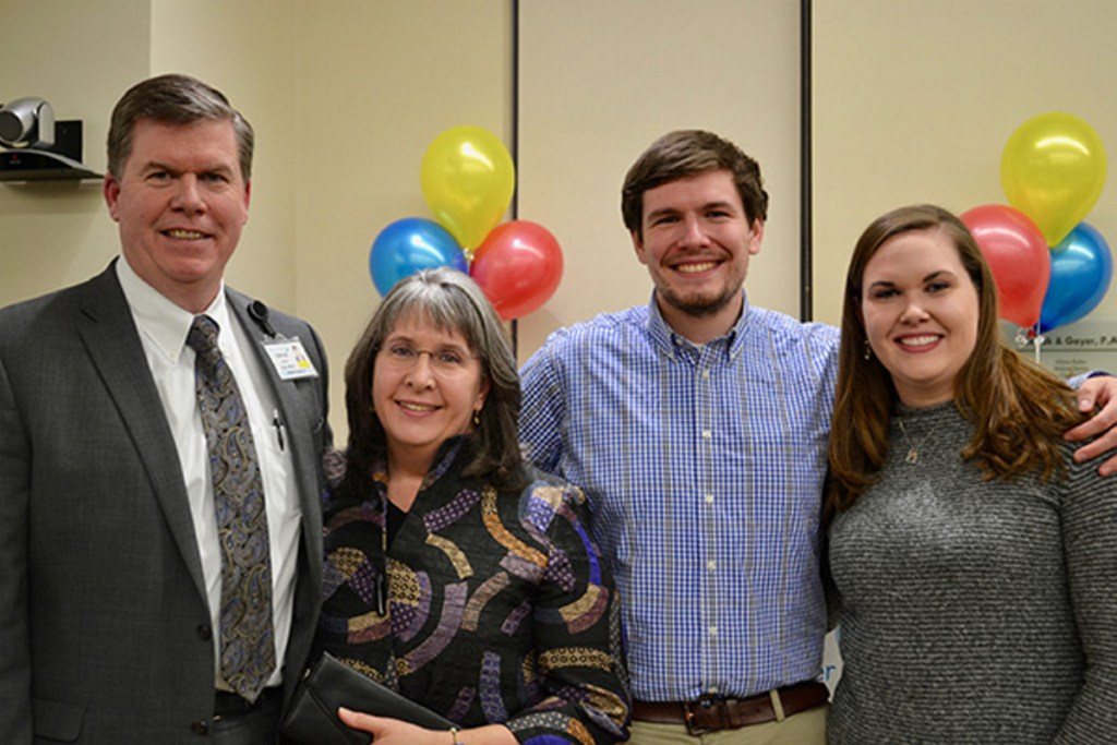The Hays Family chaired United Way's 2017 fundraising campaign. From left are Chuck, Maria, Chuck and Katie Hays.