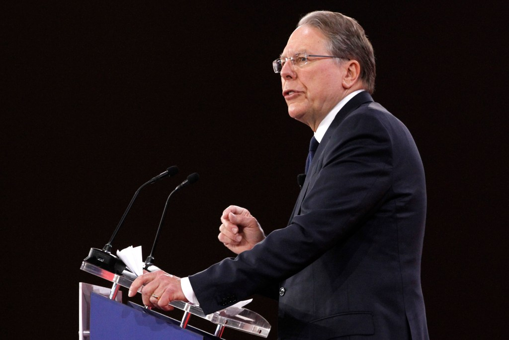 National Rifle Association Executive Vice President and CEO Wayne LaPierre, speaks at the Conservative Political Action Conference (CPAC), at National Harbor, Md., Thursday, Feb. 22, 2018.