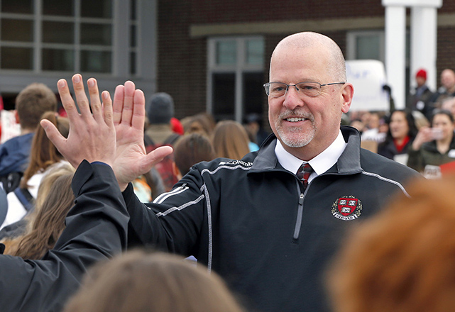 Former Scarborough High School principal David Creech has been hired for an interim position at Winthrop High School.