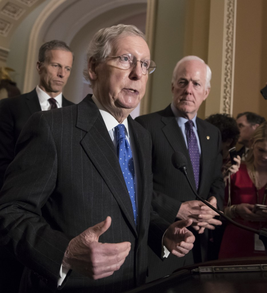 """Senate Majority Leader Mitch McConnell says he is still """"hoping there's a way forward"""" on gun law reform."""