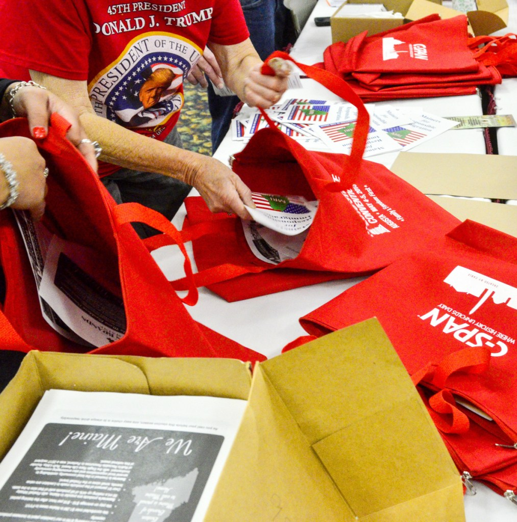 Goody bags will be given out to roughly 1,600 Republicans expected to attend the convention starting Friday.