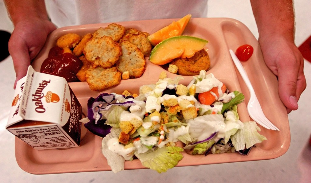 A student lunch at Cony High School costs $2.