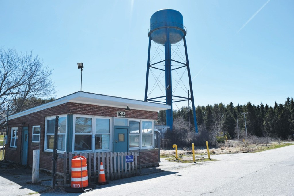 The Mitchell Field water tower in Harpswell