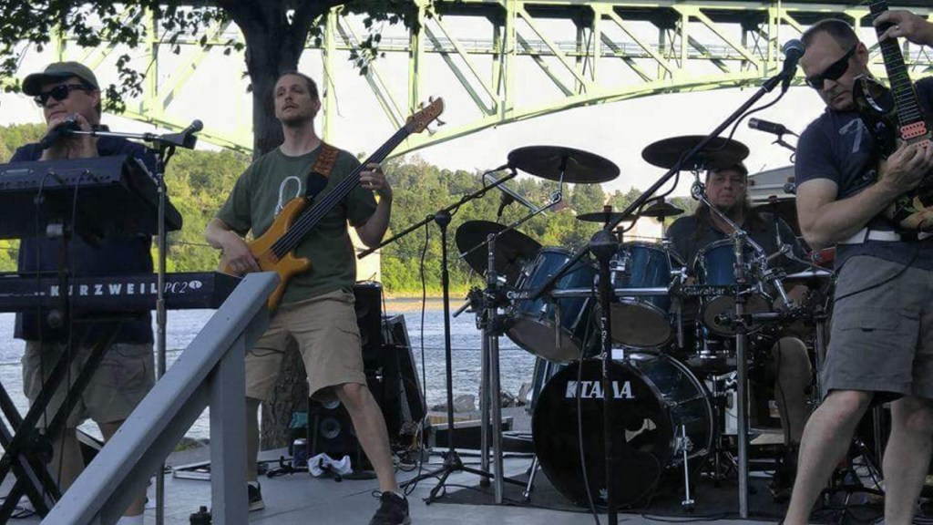 From left, Gerald Brann, Matt Howe, Kevin Ostrowski and Doug Huard perform a few years ago as the classic rock cover band Sundog.