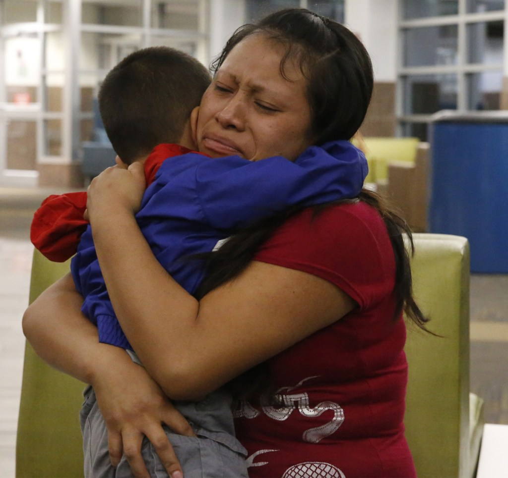"A mother and son separated for six weeks reunite at a Texas airport Thursday. A judge cites ""persistent problems"" at places where kids are held."