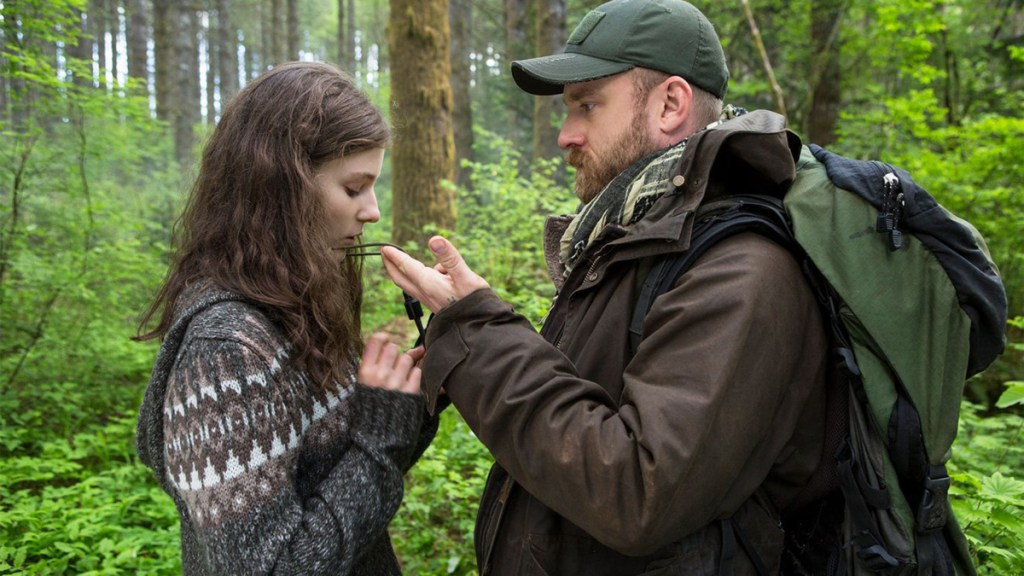 "Photo courtesy of Bleecker Street Media      Thomasin McKenzie, left, and Ben Foster in a scene from the ""Leave No Trace."""