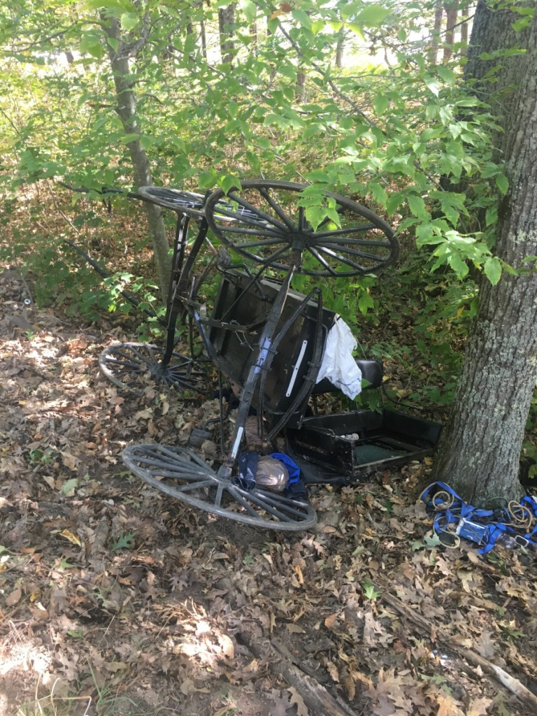 A sport utility vehicle hit an Amish buggy on Oct. 4, 2017, in Whitefield, prompting town officials to discuss possible additional safety measures on town roads.