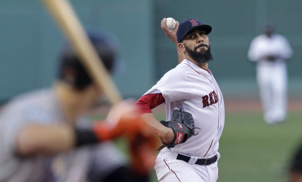 AP photo   Boston Red Sox starting pitcher David Price delivers during the first inning of a game against the Miami Marlins at Fenway Park in Boston on Wednesday.