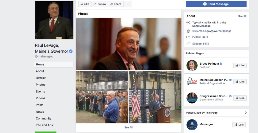 A judge has allowed a lawsuit to proceed that argues that Gov. Paul LePage cannot block people from his governor's Facebook page.