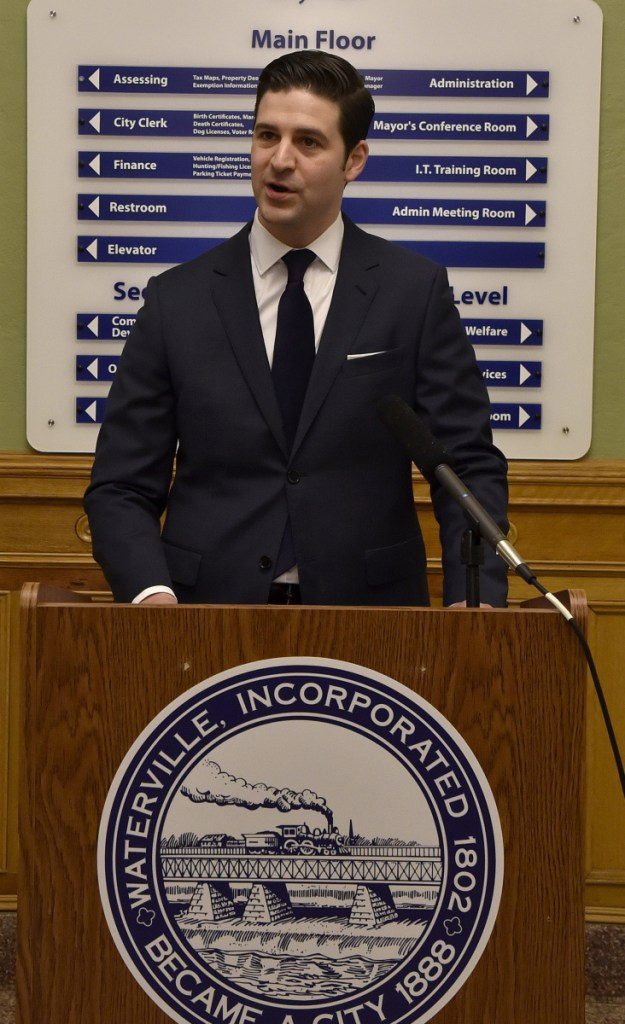 Waterville Mayor Nick Isgro has proposed changes to the city charter that include ending partisan elections for local offices, enacting a 3 percent cap on the amount the property tax rate can be increased per year and requiring people paid to lobby city officials to register with the city clerk.