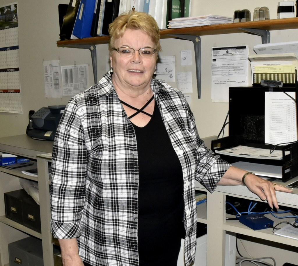 Clinton Town Manager Earla Haggerty, shown Wednesday at the Town Office, is urging Clinton voters to approve on Election Day the use of $200,000 in undesignated funds to pay for what she describes as a long overdue revaluation of properties in the town.