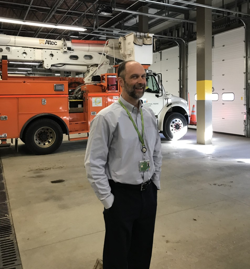 Kevin Elwell, director of Electric Distribution at Central Maine Power, talks Friday about how technology is improving the company's response to widespread power outages.