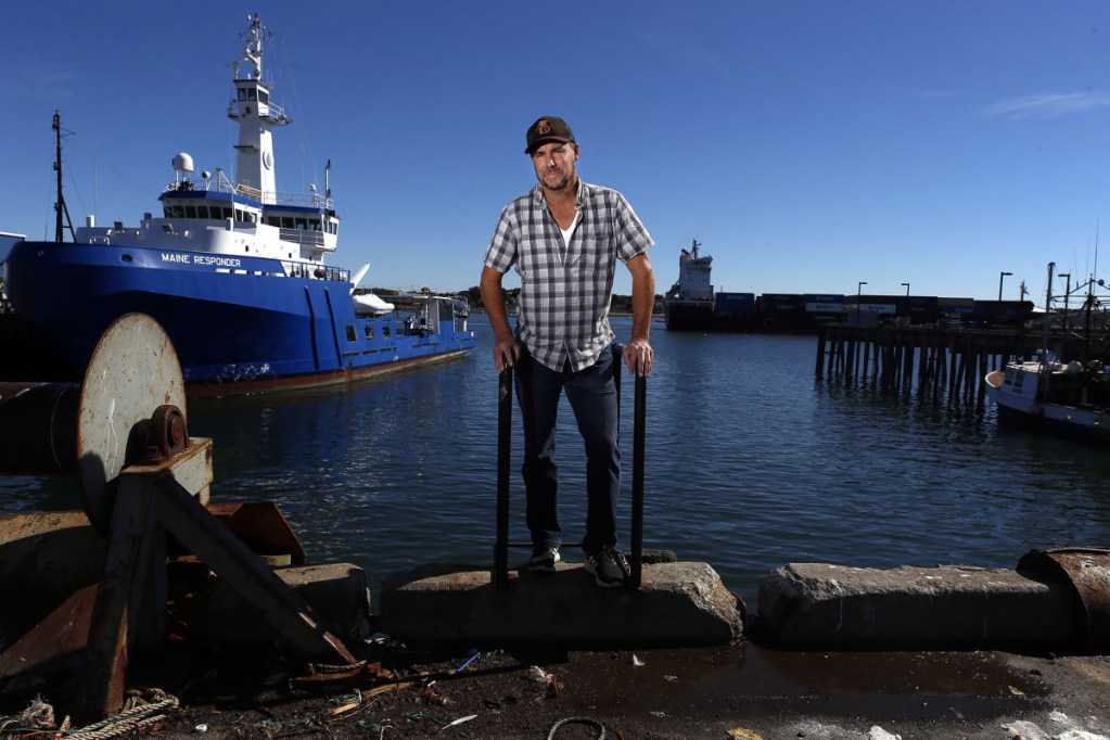 """Mike Gorman at the Net Yard on the Portland waterfront, where Gorman and his creative team on Saturday will present scenes from his play """"Chasing the New White Whale,"""" which is scheduled to premiere off Broadway at La MaMa Experimental Theater Club in New York on Nov. 24."""