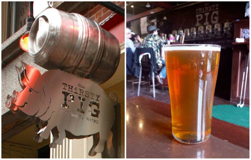 """The Thirsty Pig on Exchange Street in Portland was visited by a crew from the Travel Channel show """"Food Paradise."""""""