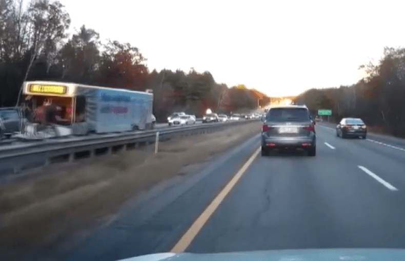 Six vehicles were damaged Wednesday in this crash, which tied up traffic on Interstate 295 for more than two hours.