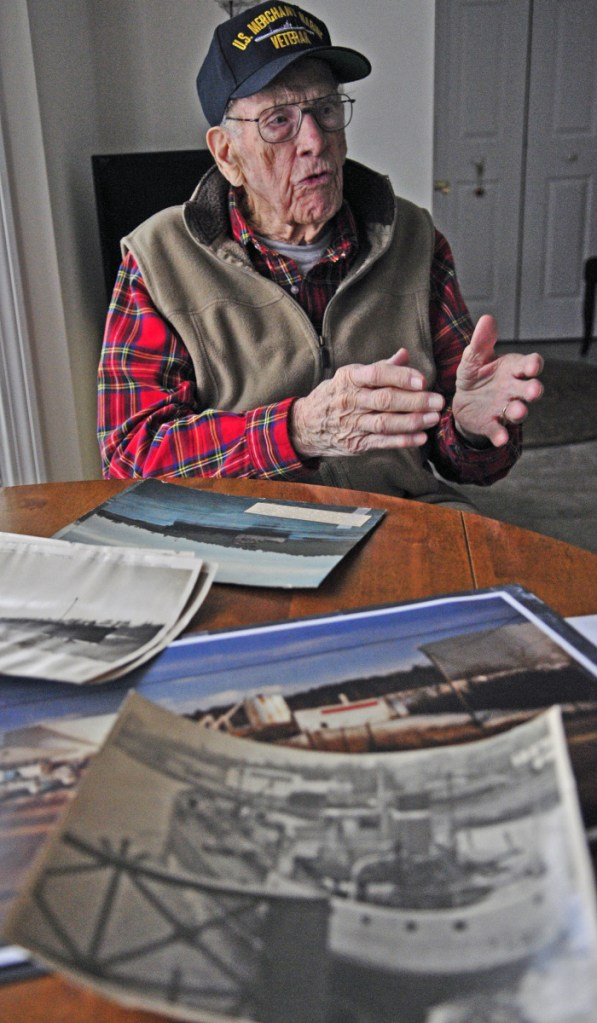 Arthur Moore Jr. talks about the Kennebec River during a Jan. 15, 2016, interview in Hallowell.