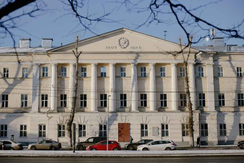 The military compound in Moscow that houses Unit 26165 in Russia.