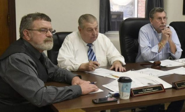 Somerset County Commissioners, from left, Cyp Johnson, Lloyd Trafton, Newell Graf Jr., Robert Sezak and Dean Cray.
