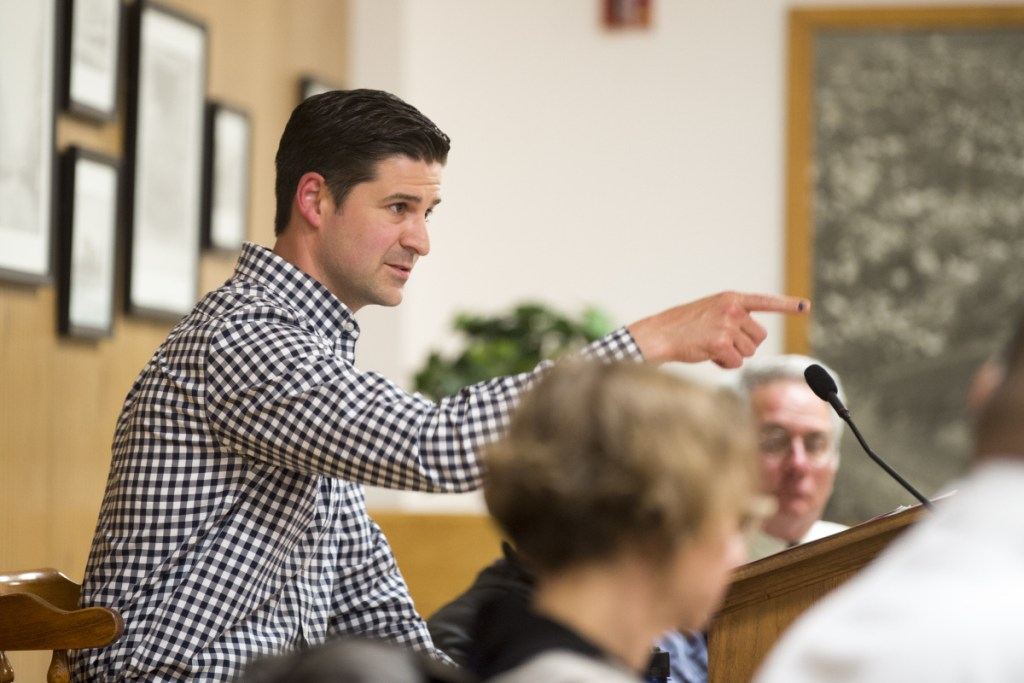 Mayor Nick Isgro takes part in a City Council meeting June 5, 2018, in Waterville. Isgro reportedly is making a run for the office of vice chairman of the state Republican Party.