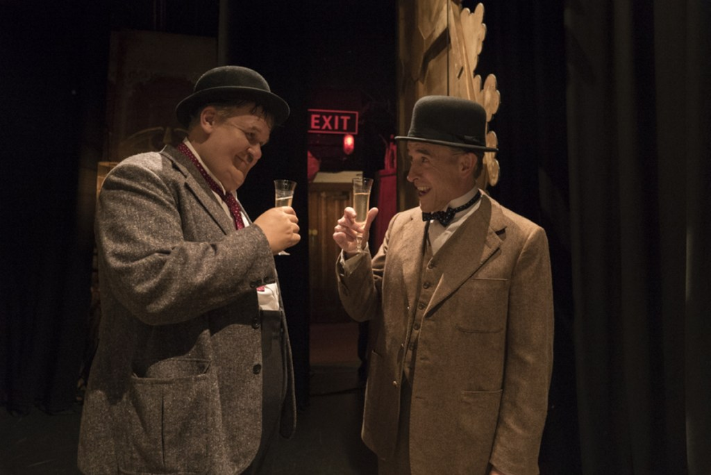 "John C. Reilly, left, and Steve Coogan in a scene from ""Stan & Ollie."""