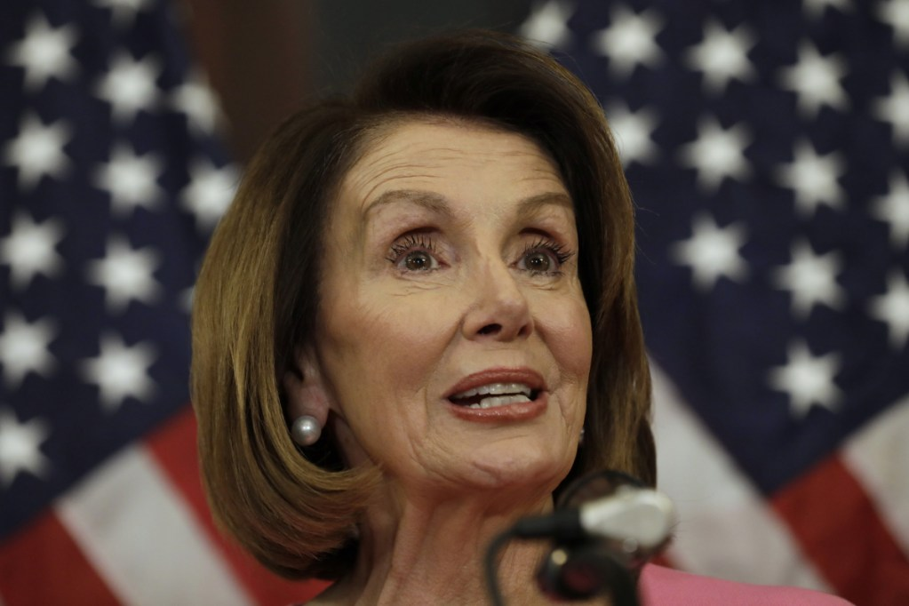 House Minority Leader Nancy Pelosi, D-Calif., speaks during a news conference on Capitol Hill in Washington, D.C., on Nov. 7.