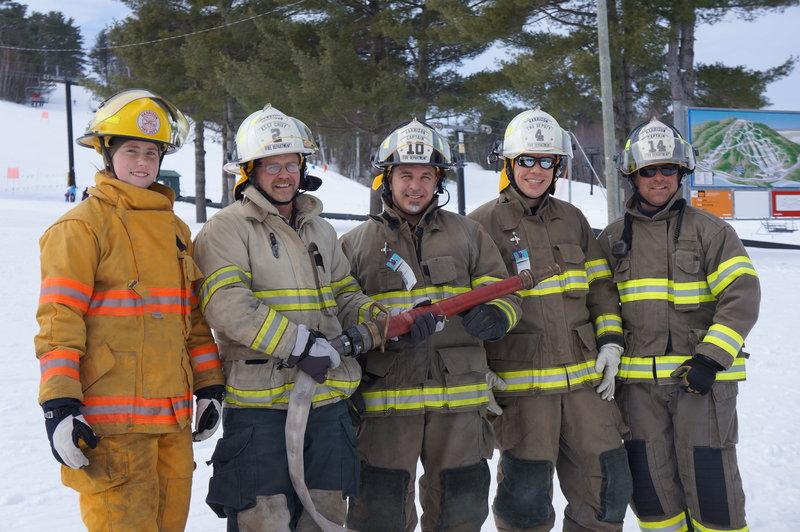 Members of the Harrison Fire Department won the Mary's Firemen for a Cure ski and fundraising competition at Shawnee Peak in Bridgton in 2014. This year's event is canceled.