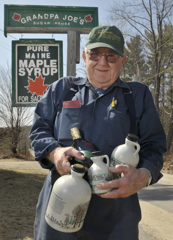 Norman McKenney, Ben McKenney's grandfather, gets ready for Maine Maple Sunday. His grandfather was Grandpa Joe, the founder of the family maple syrup business Grandpa Joe's Sugar House in East Baldwin.